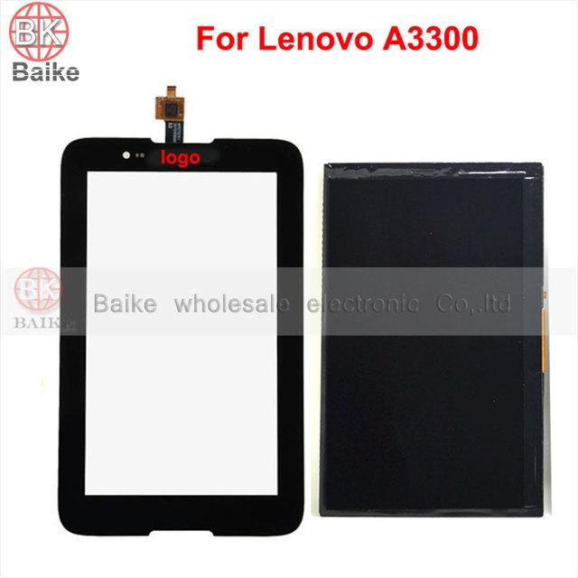 Substituição lcd tela para lenovo a7-30 a3300 painel sensor de toque de vidro da tela digitador 100% testado