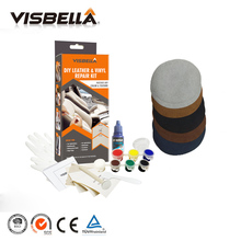 VISBELLA Leather Vinyl Repair Kit Glue Color Paste for Car Seat Clothing Boot Rip fix Crack Cuts with 10pcs Patch Sealers