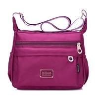 Cloth Shake Women Multi Pocket Classic Waterproof Nylon Messenger Cross Body Travel Shoulder Bag