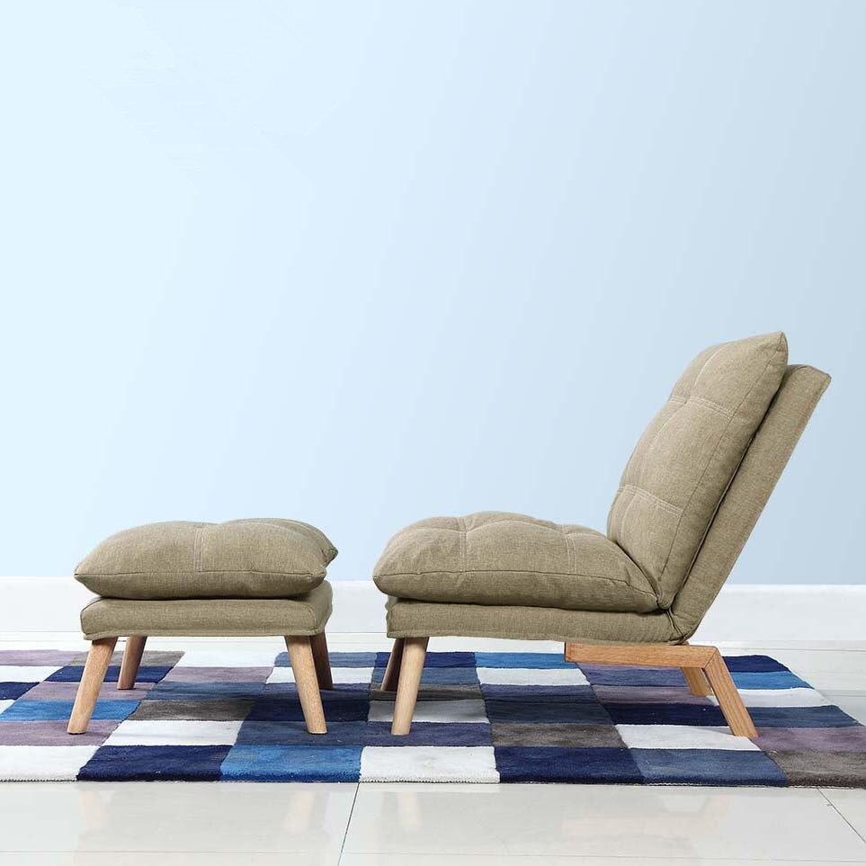 Modern Folding Chaise Lounge Sofa Japanese Style Foldable Single ...