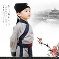 chinese costume clothing children ancient  traditional clothes of Han nationality Halloween kid  Linen Performance clothing