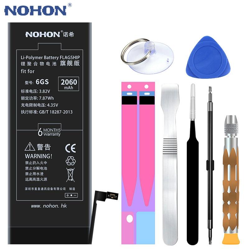 2018 heißer Original NOHON Batterie Für iPhone 6 s 6GS Lithium-Polymer Ersatz Bateria 2060 mah Hohe Kapazität Mit Einzelhandel paket