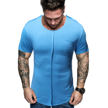MarKyi fashion patchwork desgin  brand t-shirt men summer new short sleeve tee shirt homme hip hop