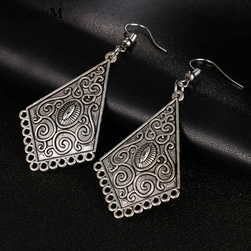 RscvonM New Bohemia long earrings for Women Tibetan Punk Earrings 2018 Pendiente Earrings drop shipping C139