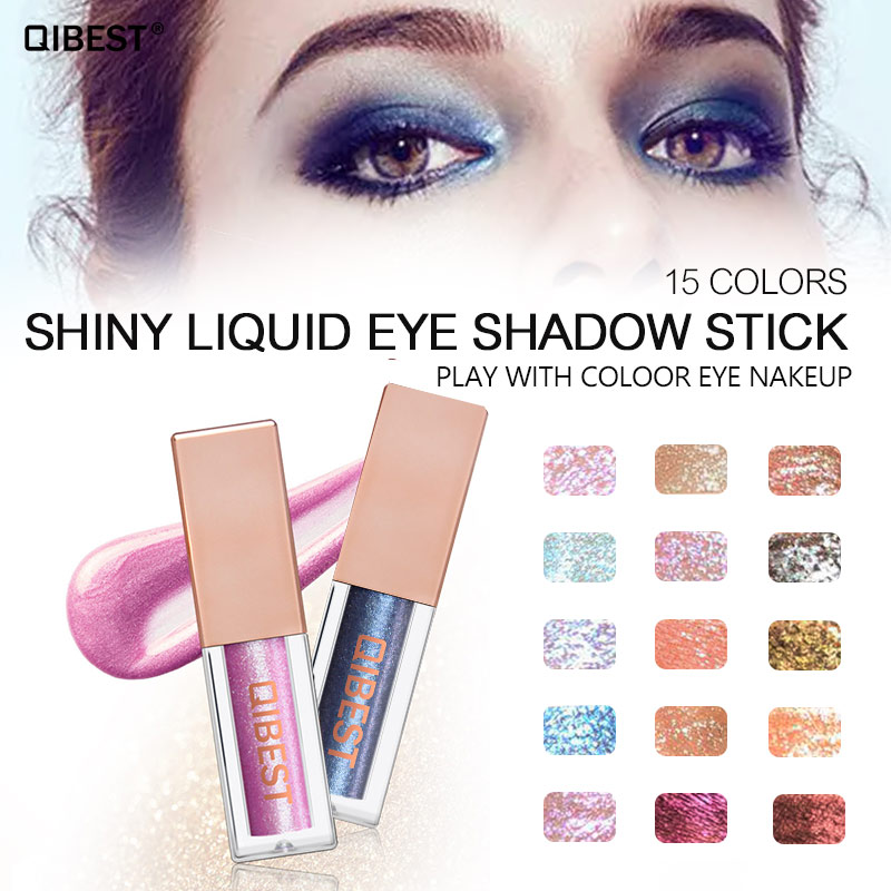 Qibest Makeup Glitter Eyeshadow Eye Shadow Liner