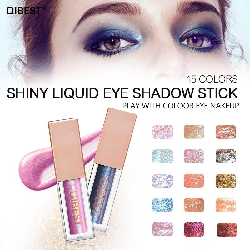Qibest Makeup Glitter Eyeshadow Eye Shadow Liner