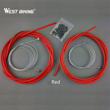 Cheapest prices WEST BIKIING Black Red Blue 5MM Bicycle Brake Tube Transmission Brake Line Tube MTB Cable Sets Outside Tube Core Inner Wire