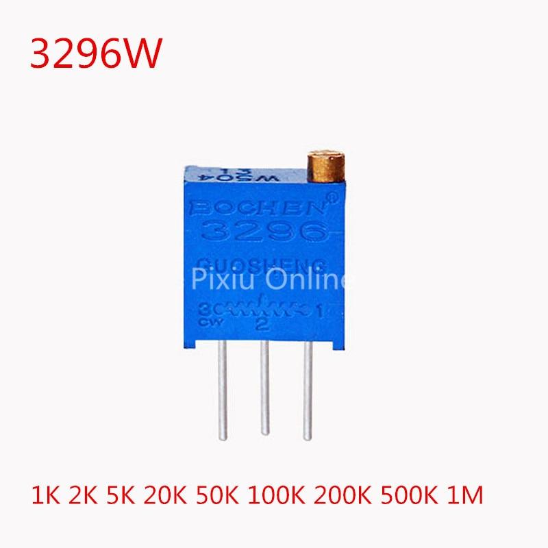 10PCS ST176b 3296W Multiturn Trimmer Potentiometer Variable Resistor 1K 2K 5K 10K 20K 50K 100K 200K 500K 1M Electronic DIY Tools tms320f28335 tms320f28335ptpq lqfp 176