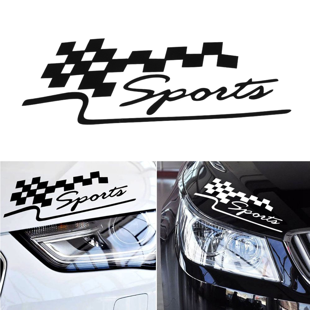 1 Pcs Decal Racing Sports Flag Set Car Stickers Auto Motorcycle Reflective Vinyl Sticker Car Styling steering wheel phone holder