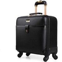 16 дюймов Классический Деловой LAPOE троллейбус случае поездки багаж чемодан багажа прокатки чемодан spinner колеса чемодан bagages чемоданы на коле