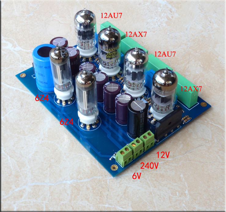12AU7+6Z4 Tube preamplifier board Reference Marantz 7 Circuit 155*122MM
