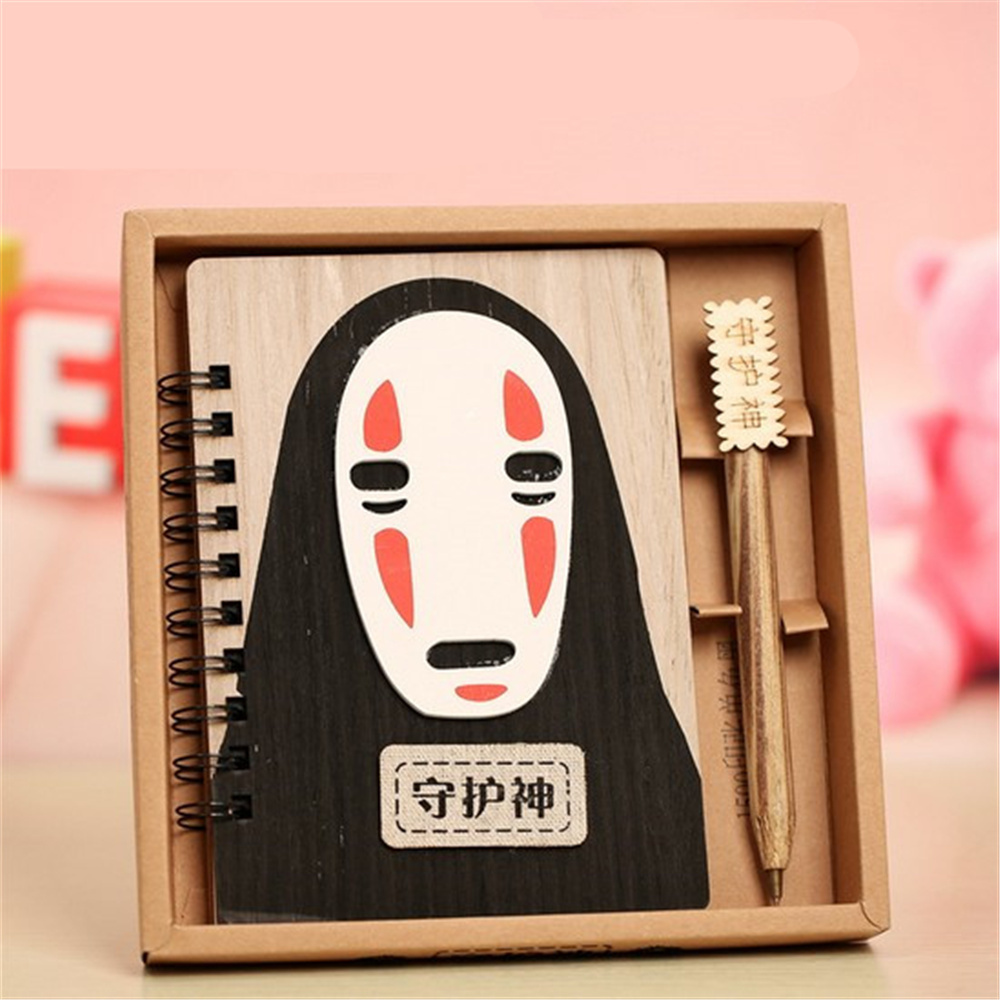 1pcs Creative Cute Cartoon no face manPlanner Notebook Diary Book Wooden Chinchilla School Supplies Gift novelty cartoon totoro planner notebook cute wooden chinchilla diary note book gifts school office stationery supplies