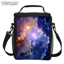 Fashion Starry Sky Women Cooler Box Storage Picnic Bags Pouch Portable Handbag Men's Large Thermal Lunch Box Insulated Lunch Bag