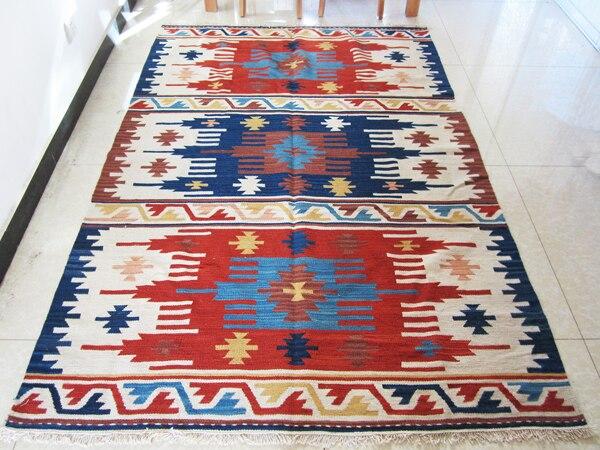 KELIM Reiner Wolle Handgefertigte Teppiche Pakistanischen Exotic Nationalen Wind Teppich Schlafzimmer Wohnzimmer Couchtisch 3gc1