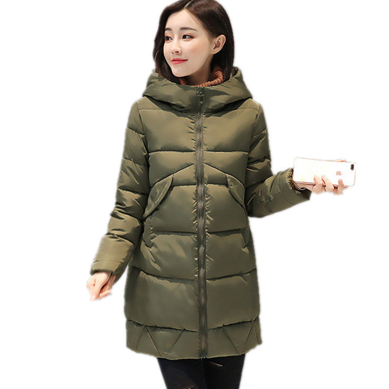 Thick Winter Warm Padded Coat Female Solid Color Loose Large Size Cotton Autumn Jacket Women 2017 New Clothing Parka TT3194 large size winter jacket hooded coat women clothing korean loose thick lamb wool coat solid casual warm cotton female coats 4xl