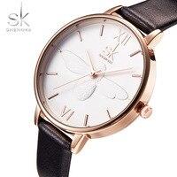 Geneva Brand SK Clock Women Leather Band Waterproof Ladies Watch Fashion Casual Quartz Dress Watches For