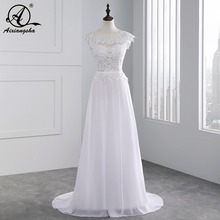 2018 Hot New A line Appliques wedding dresses Custom Made vestidos de noiva Sexy Bridal Gown