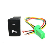 ABS 12V New Handbrake Parking Switch Brake Button with 150MM lable for Highlander,Prius, Raleigh, Corolla,How Sale
