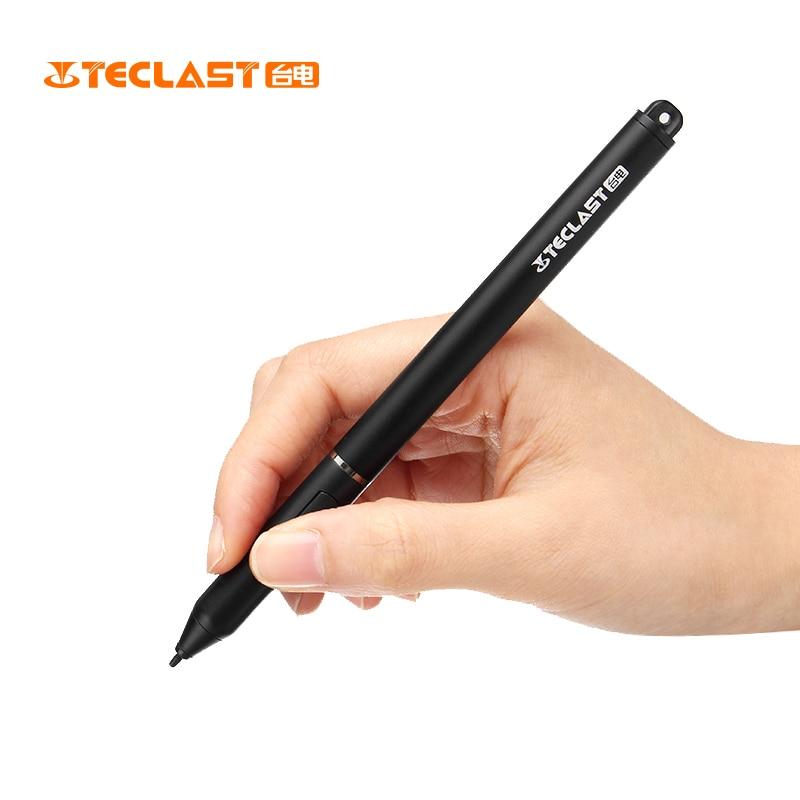 Teclast TL-T6 143x100mm AluminumAlloy 18G Stylus Ativo Wirtting Pintura Caneta Preta Lisa Para Teclast F5 F6 pro Laptop Notebook