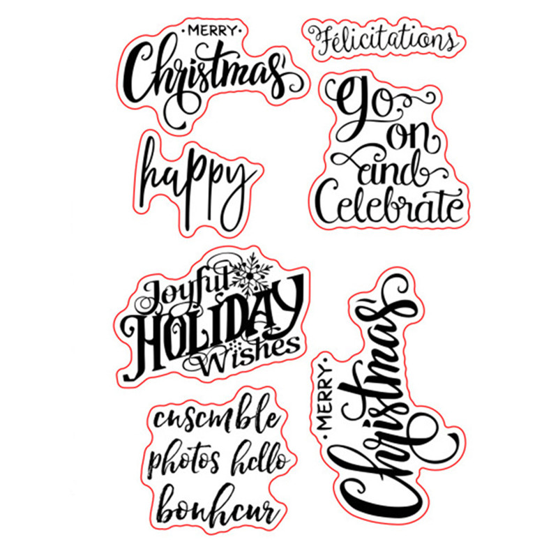 Christmas Sentiments For Cards.Us 2 79 29 Off Merry Christmas Sayings Sentiments Greetings Rubber Clear Stamps Seal Scrapbook Photo Album Decorative Card Making Clear Stamps In