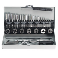 32Pcs Pro Metric Wrench Tap And Die M3 M12 Alloy Steel Remover Hand Tools Set For