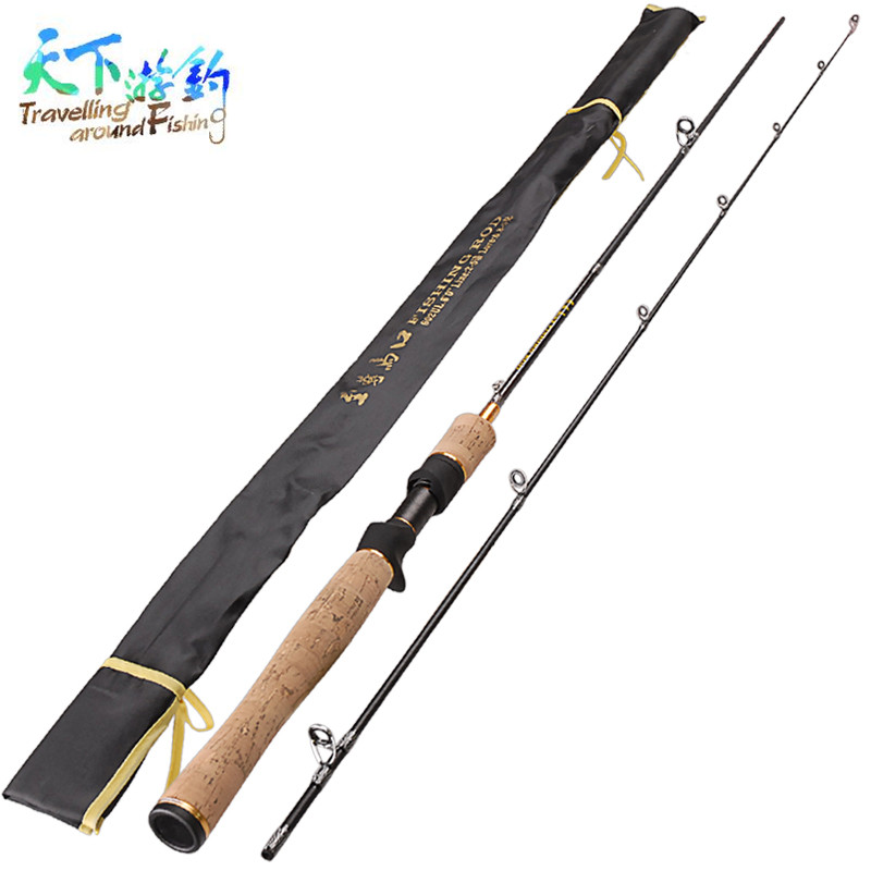 Travelling around Fishing 1.8m Power:UL 2 Tips Baitcasting Rod Lure Weight 0.8-5g Vara De Pescar Fishing Rods Fishing Tackle