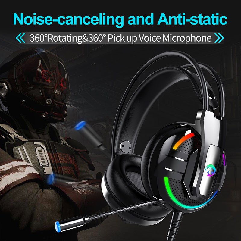 Gaming Headset Headset Kopfhörer Surround Mic Kühlen Über-ohr Mode 3,5mm Headsets Büroelektronik