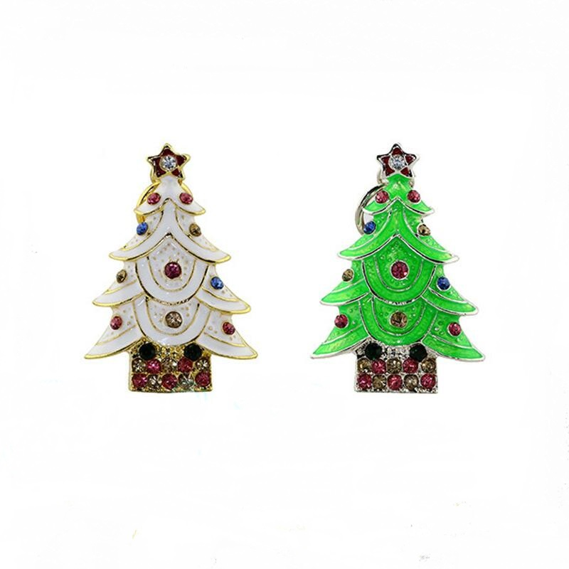 KRY Christmas Tree USB 2.0usbusb Flash Drive Thumb Memory Stick 4GB 8GB 16GB 32GB 64GB Creative Pendrive Christmas Gift