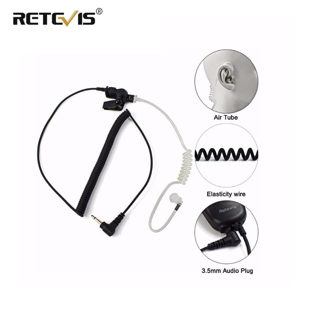 Retevis 3.5mm Audio Plug With Acoustic Tube Earpiece Listen/Receiver Only Headset For Motorola Walkie Talkie/Speaker Mic C9049A