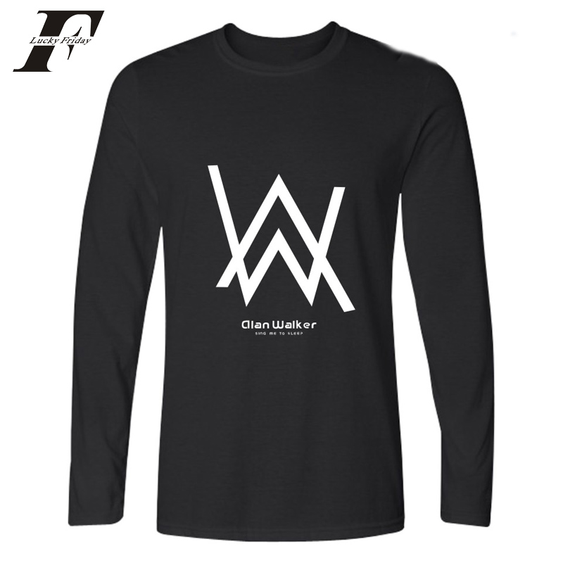 2018 hit hop Electronic Alan Walker cotton Long Sleeve T Shirt Men Autumn Tee Shirt femme Alan Walker tshirt Funny T-shirts