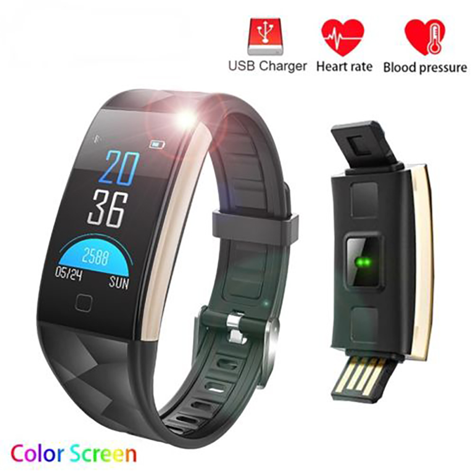 Fitness Bracelet With Heart Rate Monitor Smart Watch Men for Android iOS Sedentary Reminder Fitness Tracker Smart Wristband