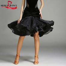 NEW Latin salsa tango standard performance dance vestidos Samba Cha cha  Fish Tail skirt  Ballroom Dance Dress skirt for women