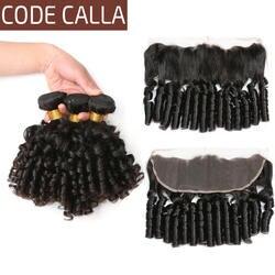 Код Калла бразильский необработанные девственные человеческие волосы Weave Расширения свободные надувной пучки волнистых волос с