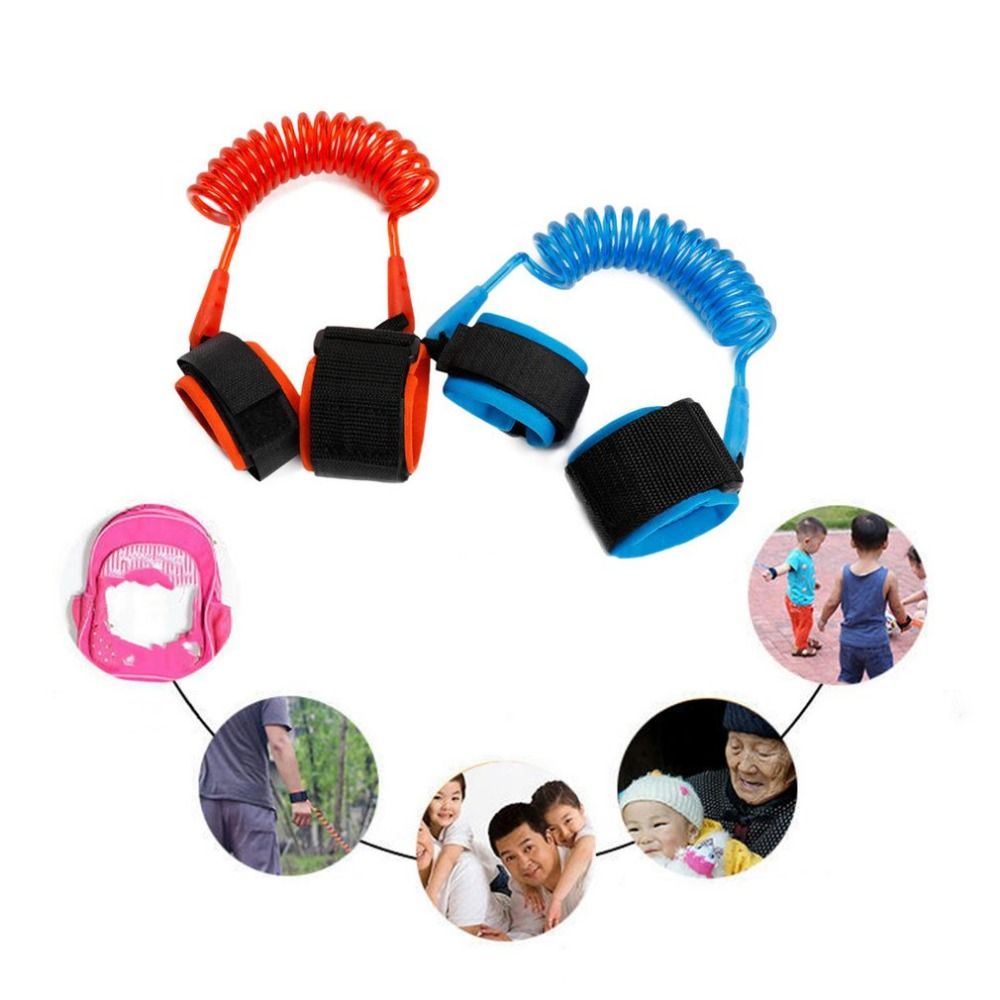 2m Adjustable Harness Leash Strap Kids Safety Anti-lost Wrist Link Band Children Bracelet Wristband Baby Toddler Hand Belt недорого