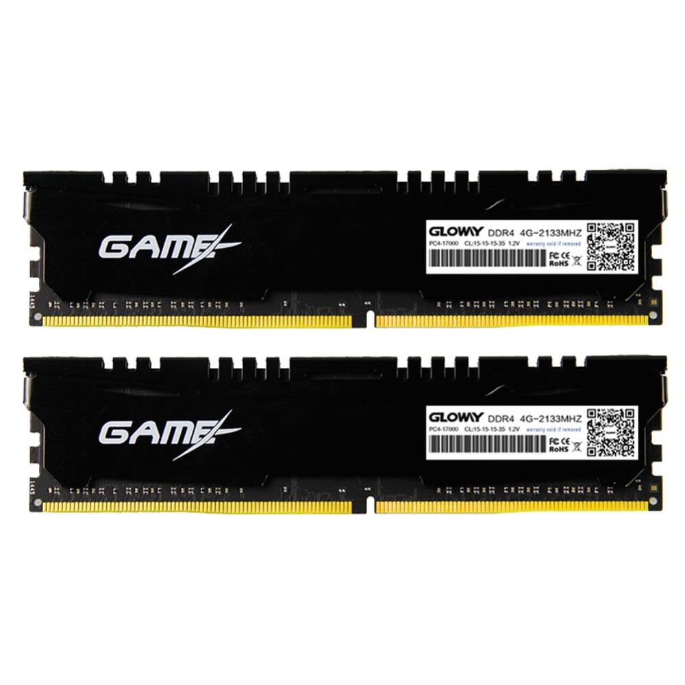 Prix pour Gloway 8 GB (4GX2) 2133 Mhz Mémoire RAM DDR4 RAM1.2V DIMM 288PIN De Bureau PC Ordinateur CL15