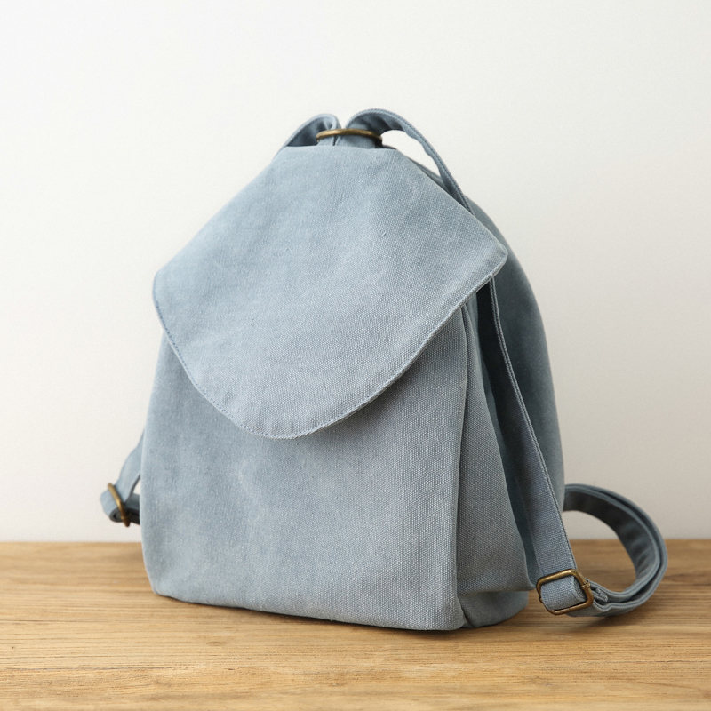 AETOO Original Casual canvas bag women art small fresh color cloth backpack new shoulder bag female backpack simple aetoo original vintage shoulder bag cotton linen women s small mini backpack multi function solid color casual backpack