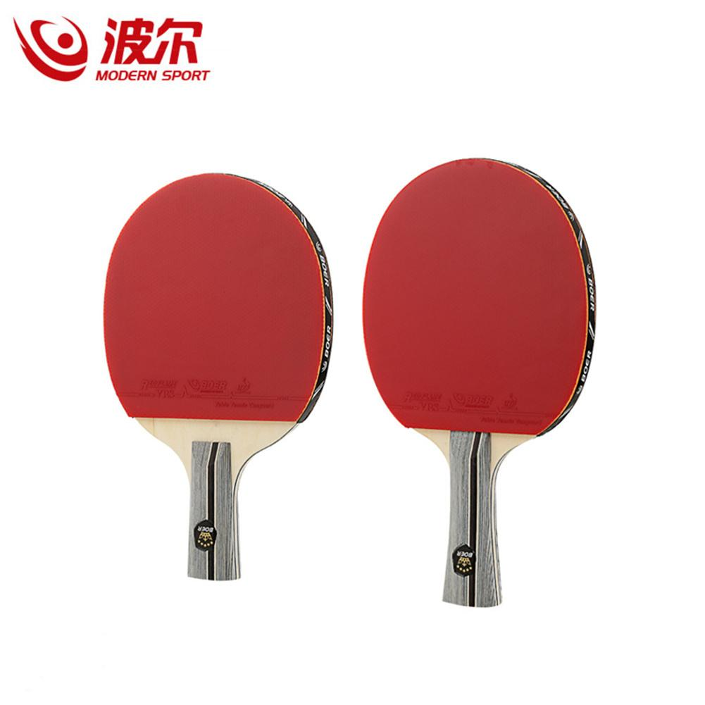 BOER 1pc 1 Star Table Tennis Racket Double Sided Inverted Rubber Ping Pong Bat for Training