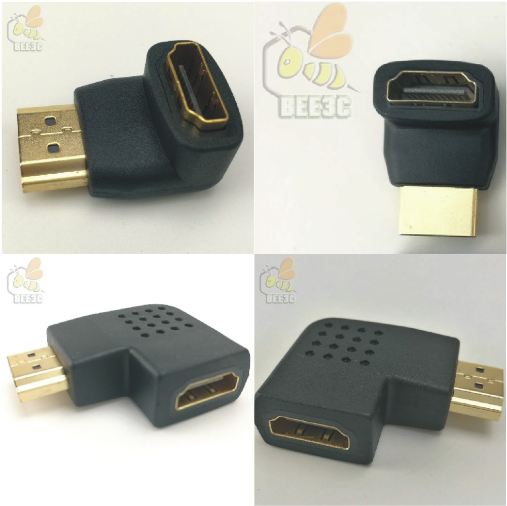 HDMI female to HDMi male A A F M 90 degree curved bend angle head 270
