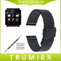 24 мм Миланской Ремешок Сетка Из Нержавеющей Стали для Sony Smartwatch 2 SW2 Smart Watch Band Ссылка Браслет Ремешок с Инструментом и контакты