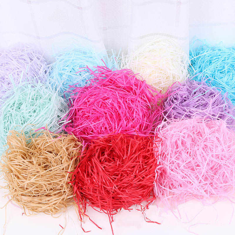 Colorful Shredded Paper Raffia Gift Box Filler Wedding Party Party Decoration Crinkle Cut Paper Shred Packaging Gift Bag 20g