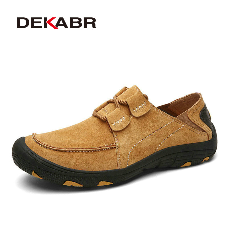 Breathable Cow Suede Leather Shoes Men Spring Autumn Men Casual Shoes Fashion Khaki Leather Shoes Men Flats Zapatillas Hombre gram epos men casual shoes top quality men high top shoes fashion breathable hip hop shoes men red black white chaussure hommre