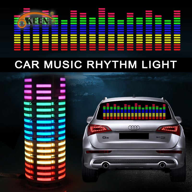 okeen 70 16 car styling music car sticker music equalizer to the rear window light for car rgb. Black Bedroom Furniture Sets. Home Design Ideas