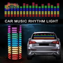 OKEEN 70*16 автомобиль-Стайлинг музыка автомобиля стикер Музыка Эквалайзер к сзади свет из окна для автомобиля rgb led контроллер декоративные лампы