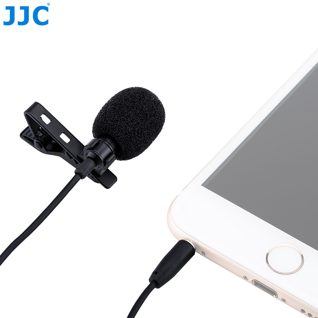 JJC SGM-28 360 Degree Pickup of Sound Omnidirectional Lavalier Microphone For iPhone  iPad Smart Phones or Tablets