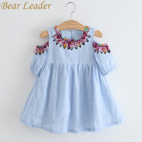 Bear Leader Girls Dress 2017 Summer Style Princess Dress Children Clothing Half Sleeves Casual Pattern Design
