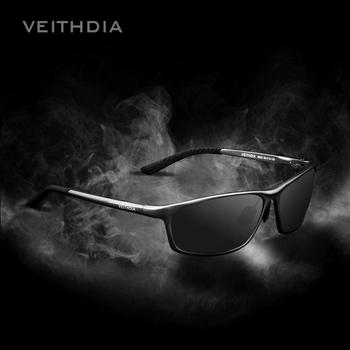 VEITHDIA Square aluminium spolaryzowane okulary przeciwsłoneczne okulary męskie akcesoria do okularów męskie okulary do jazdy niebieskie okulary przeciwsłoneczne odcienie 6520 tanie i dobre opinie Aluminium Magnezu Rectangle UV400 Dla dorosłych 63mm 40mm
