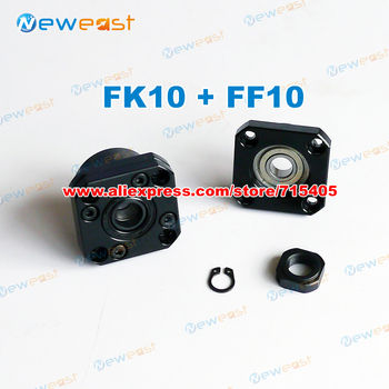 FK10/FF10 Set: FK10 fixed end support and FF10 end support each 3Pce for SFU1204 SFU1205 ballscrew support CNC XYZ FK10 FF10