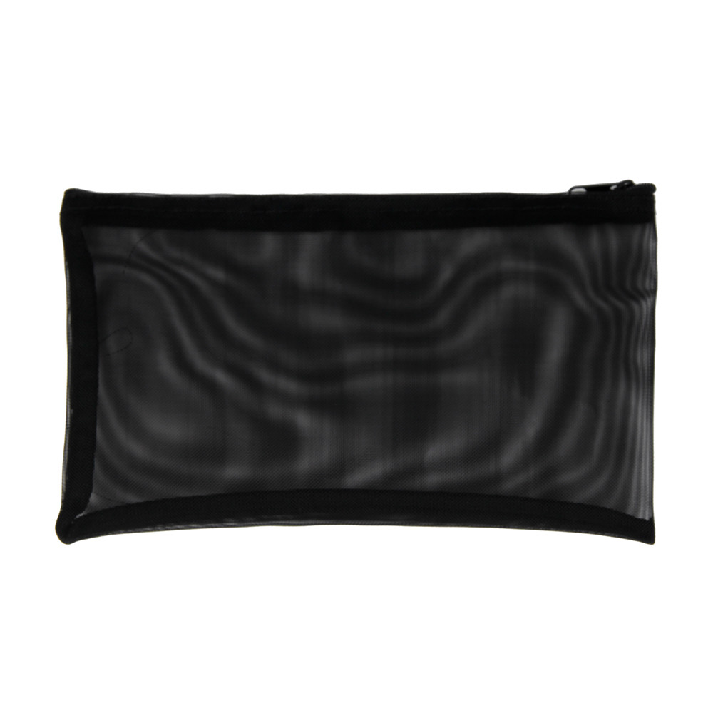 Women Trendy Gauze Cosmetic Bag Nylon Black Transparent Fashion Handbags Simple Style maleta de maquiagem profissional niko black 21 23 26 ukulele bag silver edge nylon soprano concert tenor soft case gig bag 5mm thick sponge