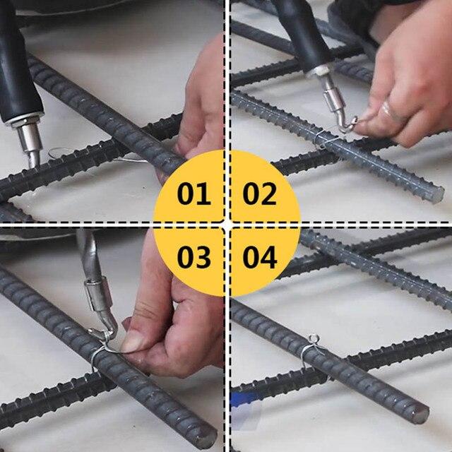 Outil de clôture de torsion à fil métallique | Outil semi-automatique de liaison de fil de barres darmature pour béton MJJ88