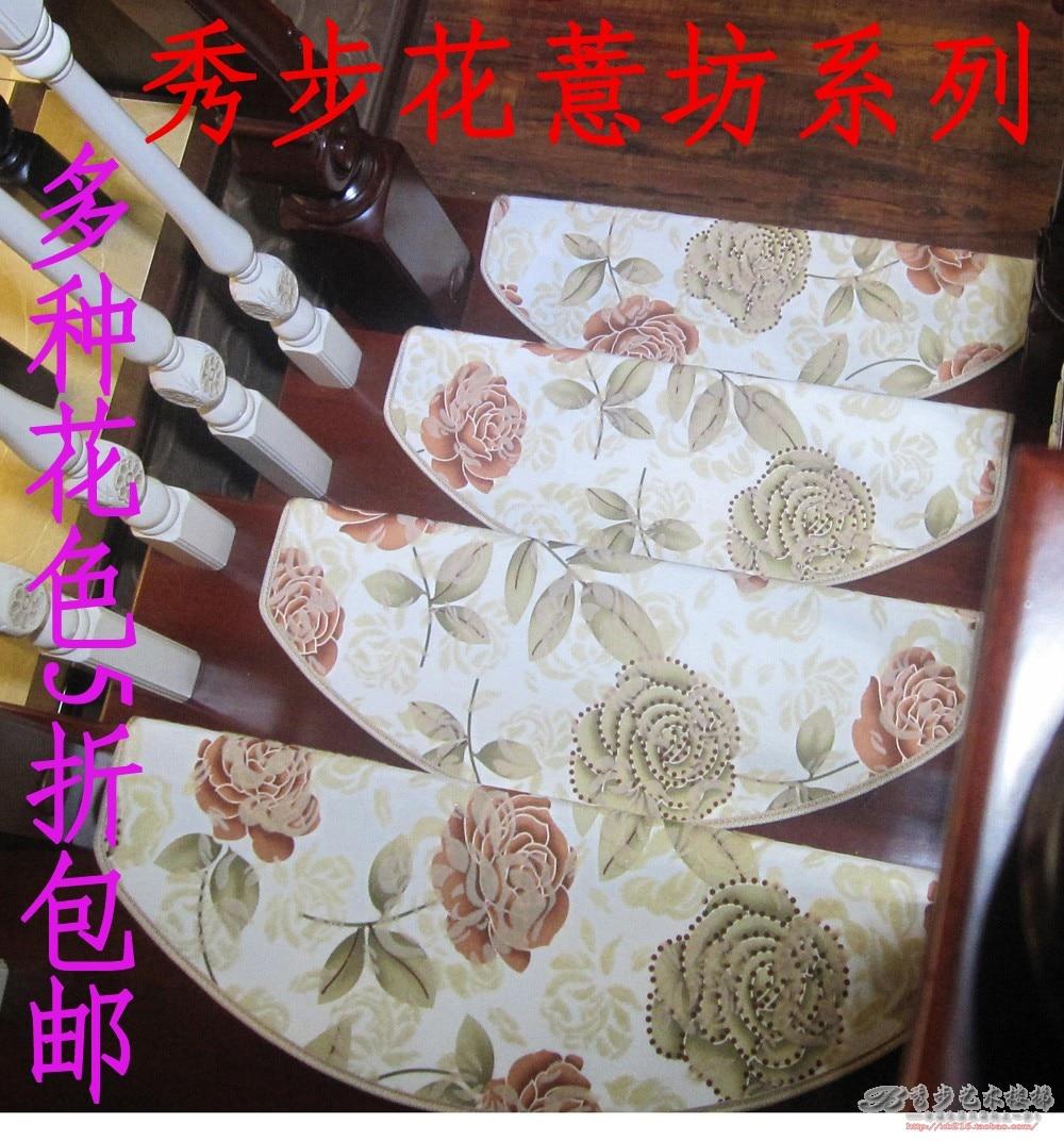 Flower series multi-color stair mat strode pad stair carpet glue slip-resistant pad doormat